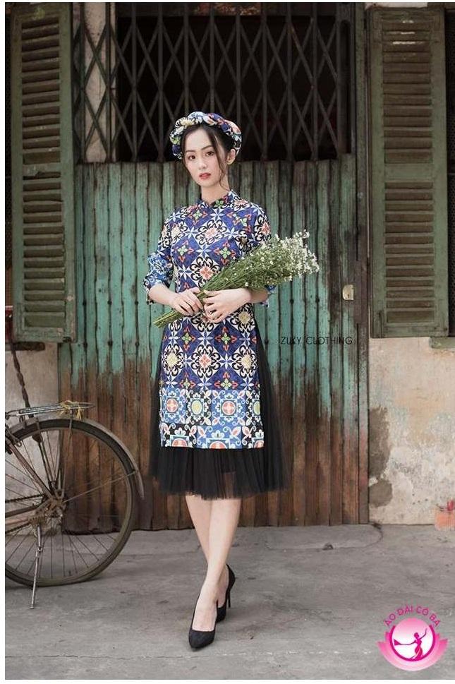 Áo dài cách tân hiện đại kết hợp với chân váy