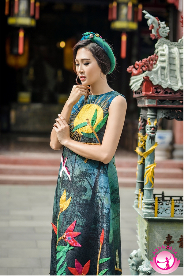 Hoa khôi Áo dài Việt Nam 2016 diện thiết kế á dài cách tân hiện đại không tay