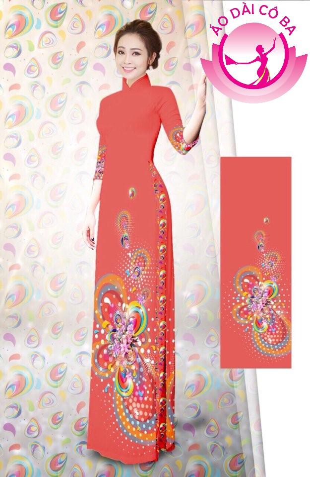 Áo dài tay lỡ in hoa 3D mẫu 3
