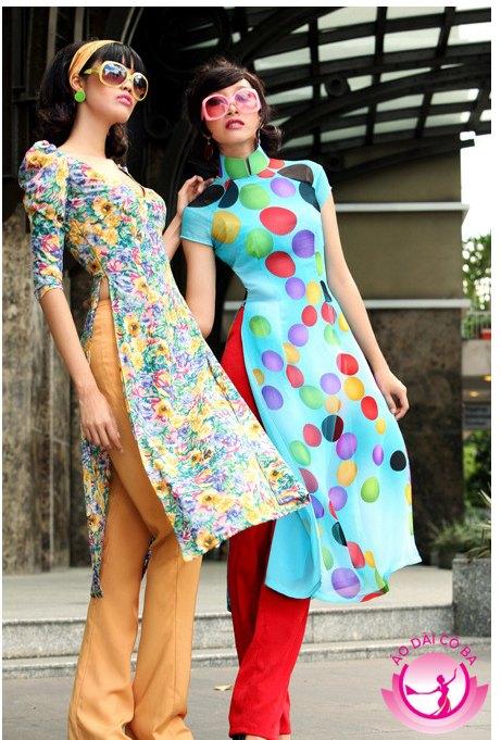 Phan Linh cá tính vói áo dài cách tân tay ngắn