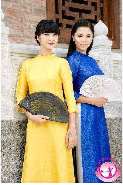 Áo dài truyền thống lụa tơ tằm