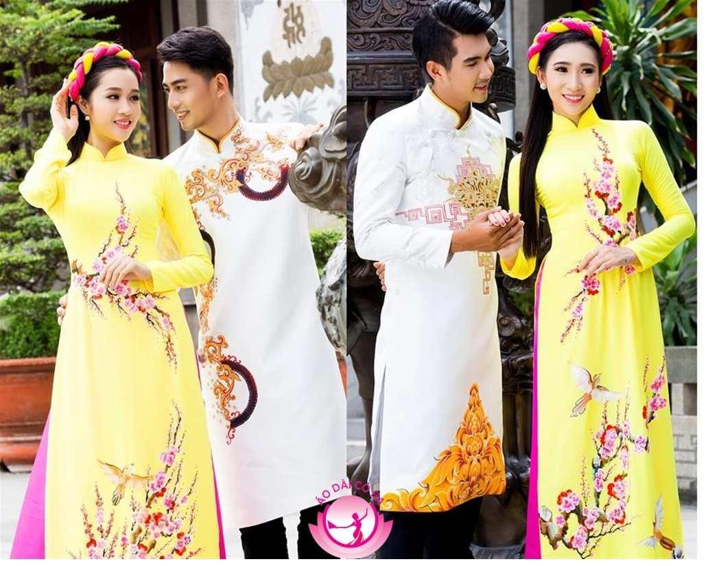 Áo dài cưới truyền thống nam, nữ
