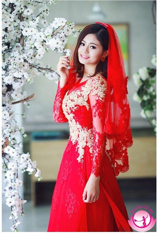Những mẫu áo dài cưới truyền thống, cách tân đẹp mới nhất 2018
